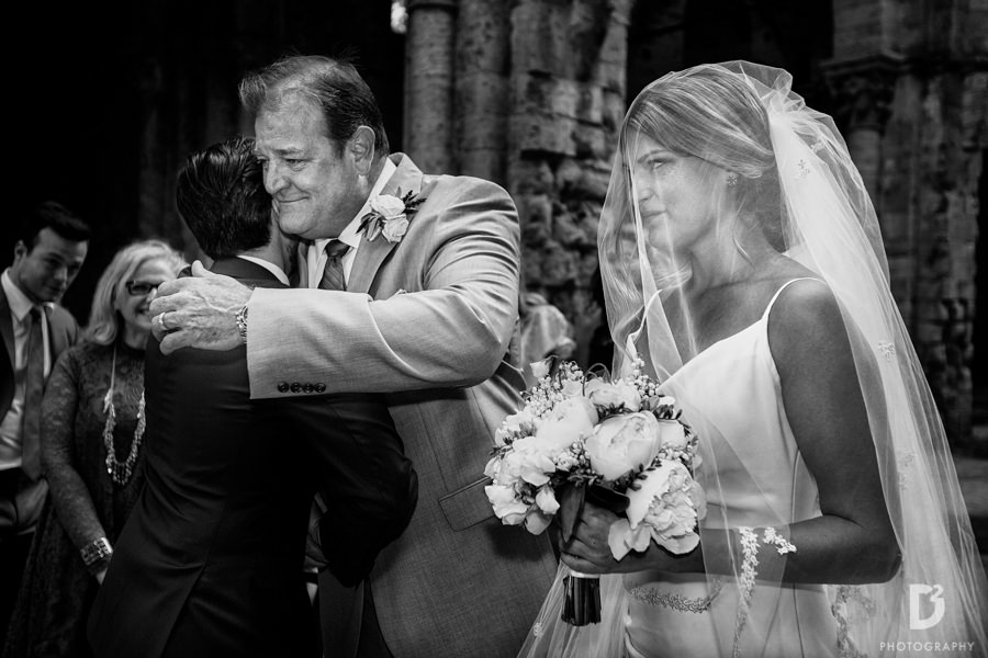 wedding ceremony San Galgano Siena Tuscany
