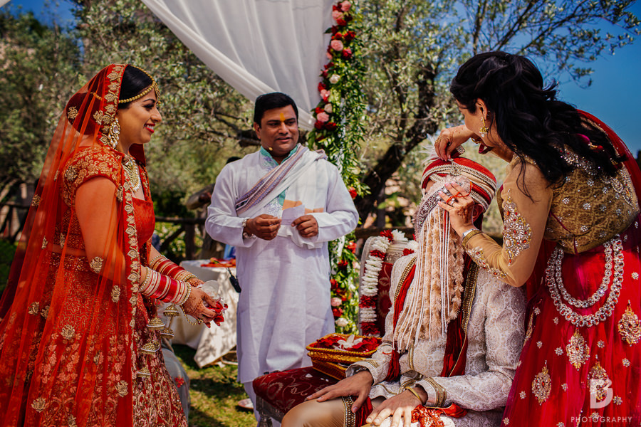 Indian marriage in Tuscany